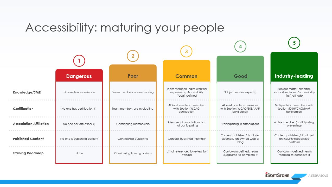 Accessibility Maturity Model Screenshot